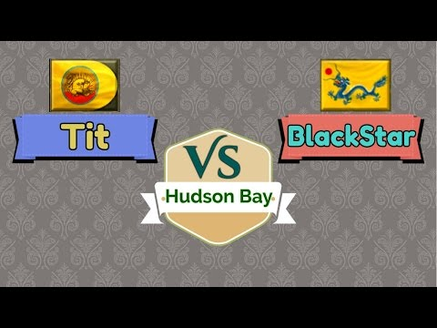 AoE 3 :  1v1 OBS  | BlackStar_OP (China) VS TiT (India)  | HUDSON BAY