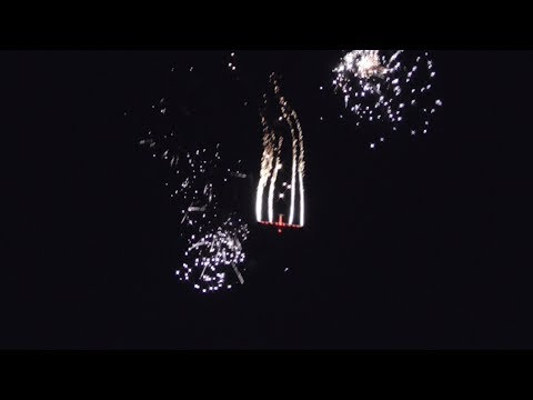 Athens Flying Week 2017 Johan Gustafsson SZD-59 Acro Night Display with Fireworks