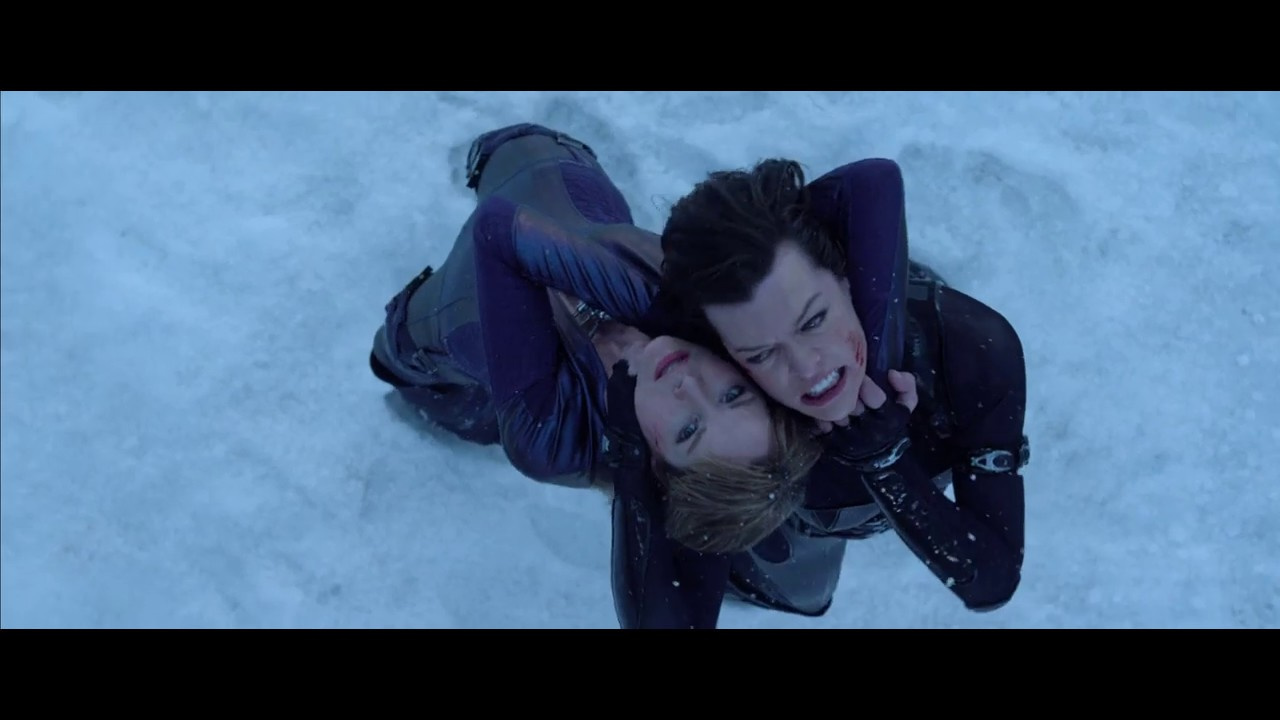 Resident Evil Retribution Jill And Rain Vs Alice Luther And Leon Part 2 Youtube