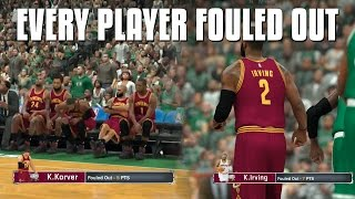 What Would Happen if Every Player Fouled Out In A Game Of NBA 2K17?