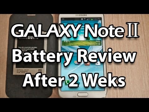 Samsung Galaxy Note Battery Life Review After Weeks