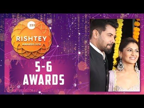 Sriti Jha & Shabir Ahluwalia Aka Abhi & Pragya From KumKum Bhagya At Zee Rishtey Awards thumbnail