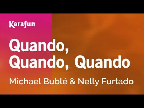 Karaoke Quando, Quando, Quando - Michael Bublé *