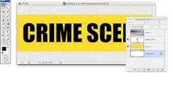 CREATE  realistic crime scene tape in photoshop