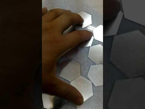 Lovely Silver Color DIY Hexagon 3D Art