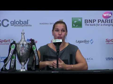 Dominika Cibulkova 2016 WTA Finals Singapore Final Press Conference
