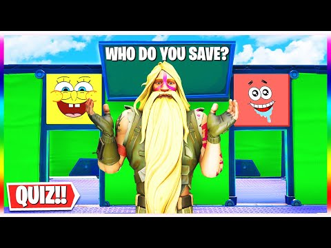 The SPONGEBOB Deathmaze Trivia Map! - Save Spongebob or Patrick?? (Fortnite Creative Map)