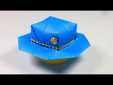 How to make Paper Hat for Girls: Origami Hat | sb crafts