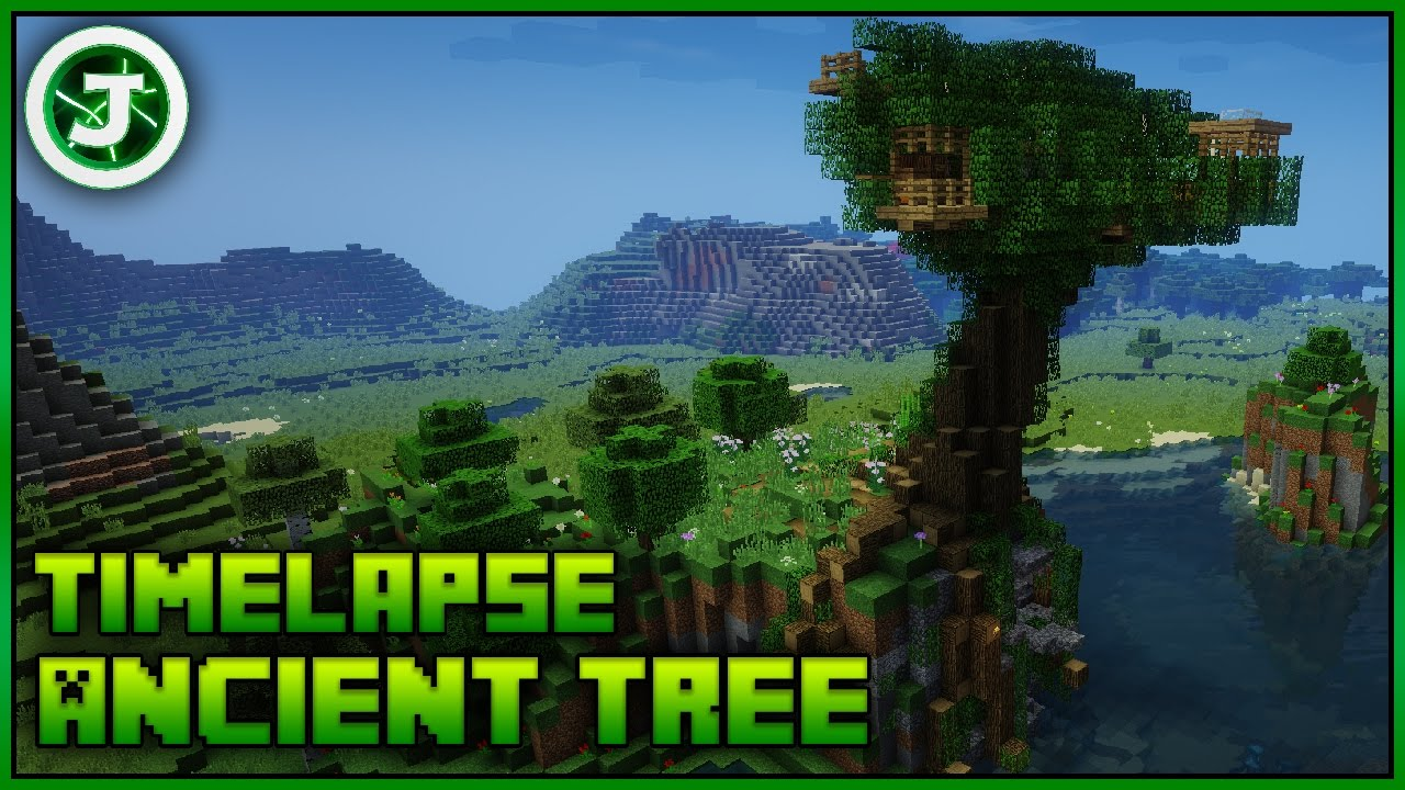 Minecraft Timelapse Ancient Tree House With Download YouTube - Group guys build epic treehouse gaming