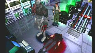 chris (fire grenade launcher)vs tyrant laboratorio -arrange- playstation 1-