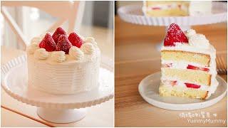 Strawberry Shortcake「草莓鮮奶油蛋糕」V.S海綿蛋糕。這樣打發輕鬆不消泡。綿密好吃!| 俏媽咪潔思米