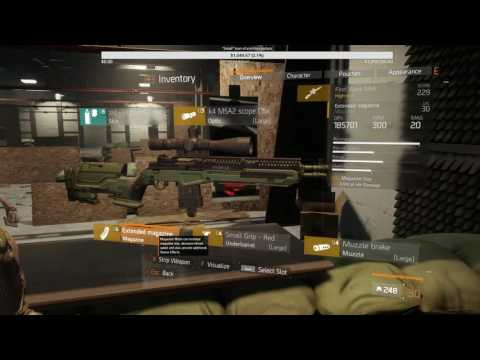 The Division - 1.3 - 229 M1A - Support Talents (Inigo's)