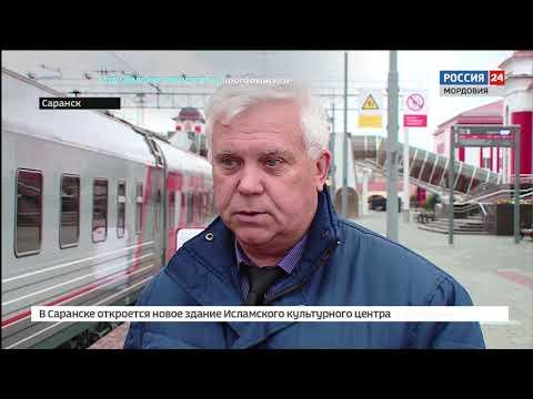 В Саранск прибыл уникальный поезд музей, рассказывающей о ЖД истории России