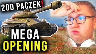 MEGA OPENING !!! - 200 PACZEK w World of Tanks