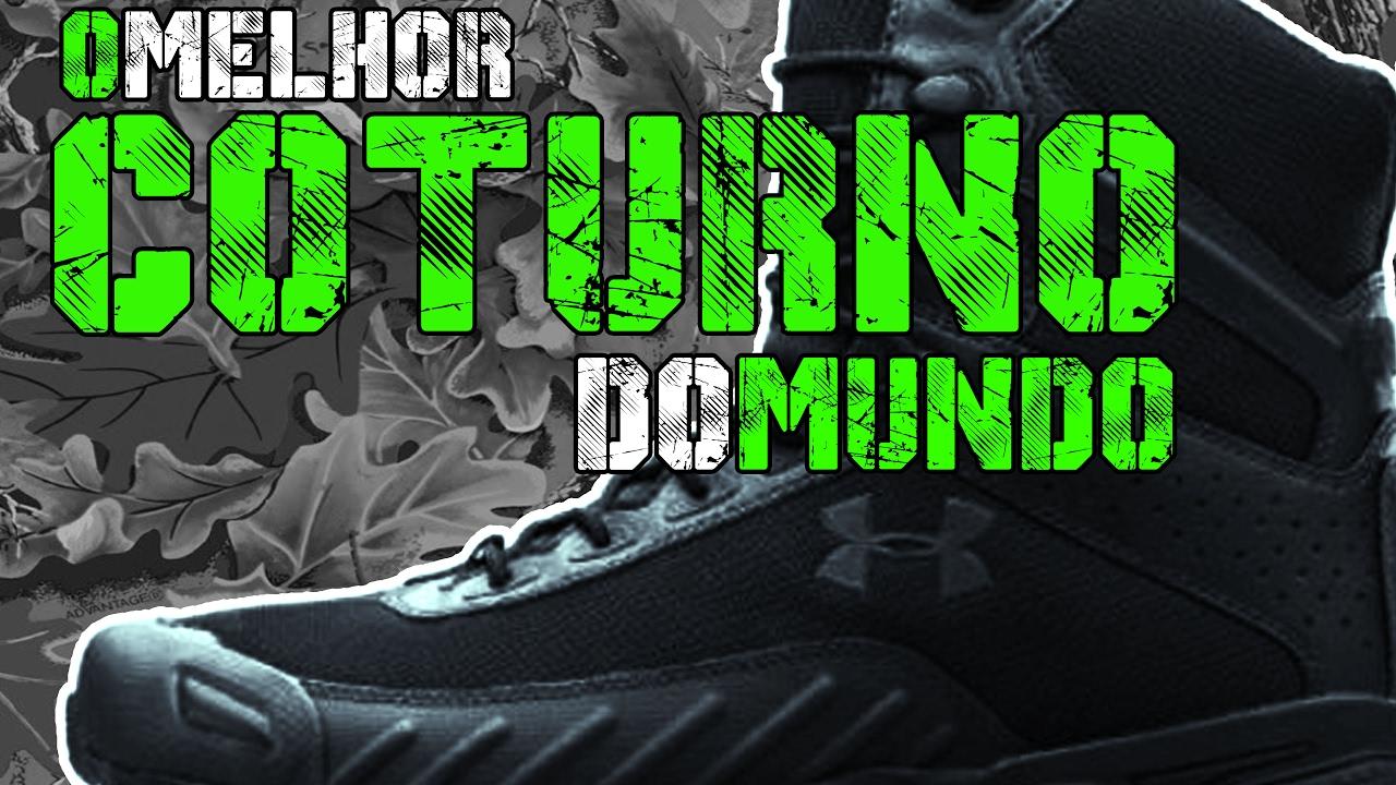 """7d848d5d1 O MELHOR COTURNO DO MUNDO - Men's UA Valsetz 7"""" Tactical Boots - YouTube"""
