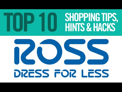 Top 10 Ross Dress For Less Shopping Tips Hints And Hacks Youtube