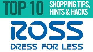 TOP 10 Ross Dress for Less Shopping Tips, Hints and Hacks
