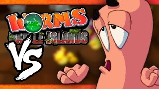 VS MODE: Worms: Battle Islands - Diving Dongle (Part 3) (3-Player)