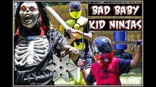 Bad Baby Kid Ninjas VS Ninja Monster . In this kid ninja Episode th...