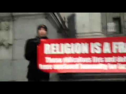 Religion is a FRAUD -- Angry Christian Fights Back -- 12/17/2011
