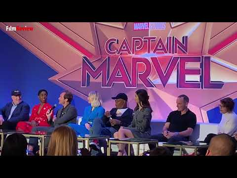 Captain Marvel Press Conference - Jude Law on if his kids were excited with him being part of t...