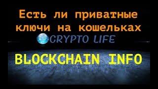 Как получить приватные ключи на кошельке блокчеин инфо. Есть ли приватные ключи на blockchain info?