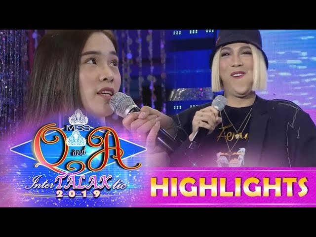 It's Showtime Miss Q and A: Ate Girl Jackque makes Vice Ganda speechless for the first time