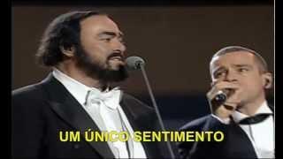 Luciano Pavarotti & Eros Ramazzotti - Se Bastasse Una Canzone - TelediscoVideoArte