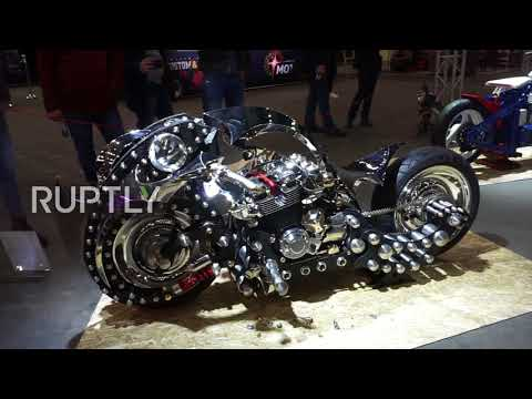 Roll over easy rider! Futuristic steel motorbike unveiled in Moscow