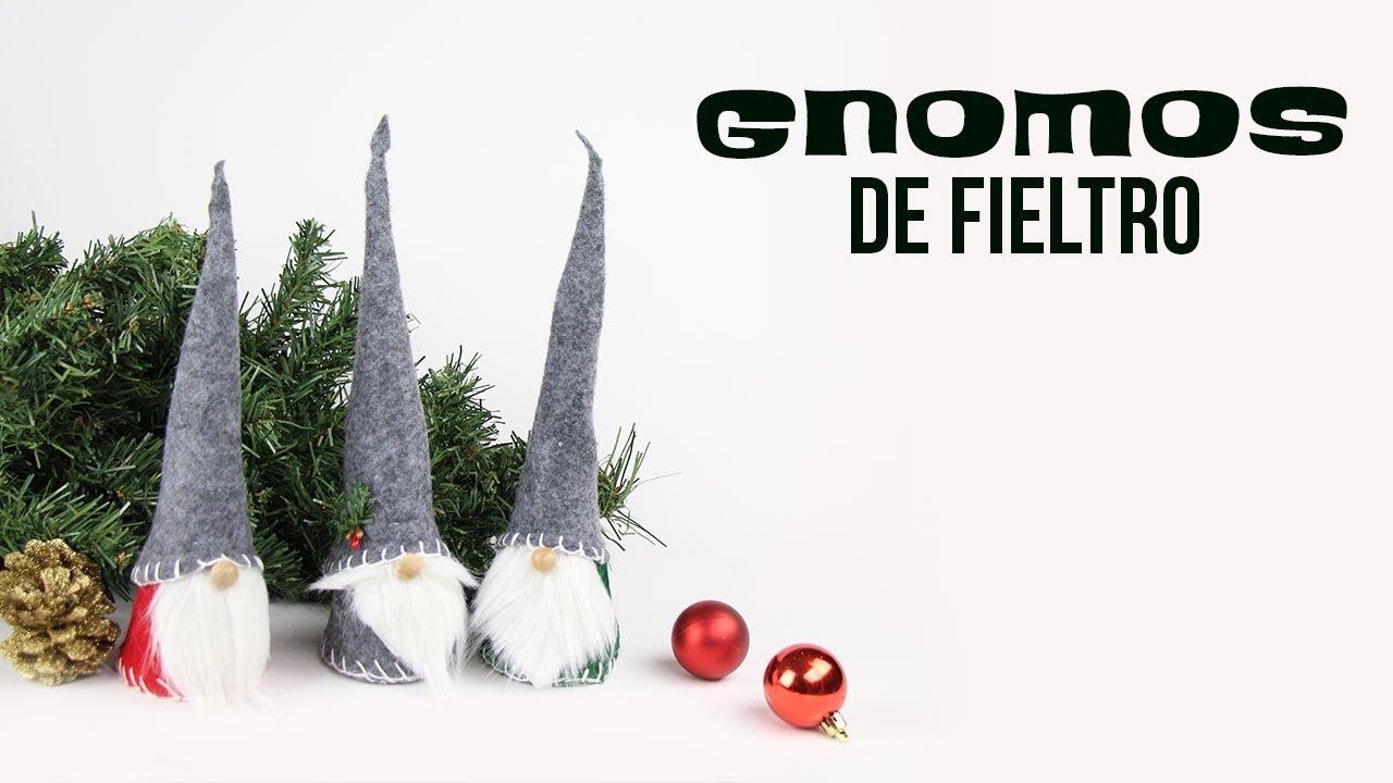 DIY Felted Gnomes   Gnomos de fieltro (Christmas   Navidad) - YouTube