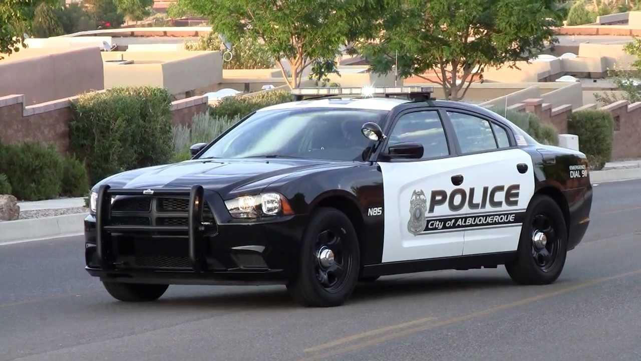 Albuquerque Police Department Black And White Police Car