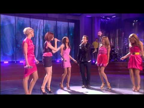 Girls Aloud With James Morrison - Broken Strings (Live @ Girls Aloud Party 13/12/2008)