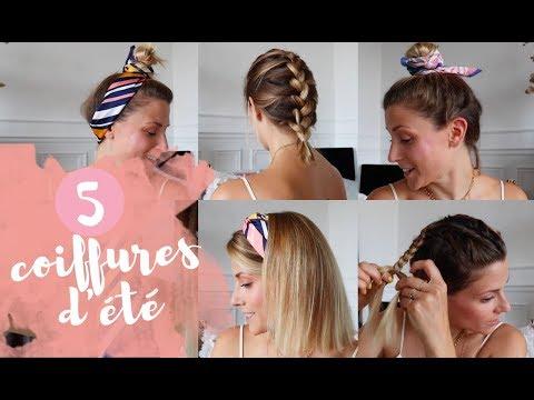 5 idées coiffures d'été (simples, rapides et OK sur un carré)
