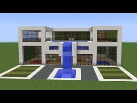 Minecraft modern house not clickbait steps in description