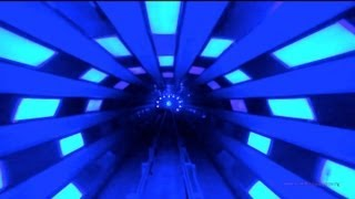 Space Mountain in Reverse (Backwards) Front Row POV Magic Kingdom Walt Disney World HD 1080p