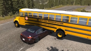 School Bus Crashes 5 (Interior View Edition) | BeamNG.drive