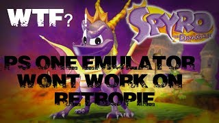 Ps one emulator wont work Raspberry pi Easy fix for ps one