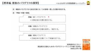 英文読解講座(標準編):複数のパラグラフの展開