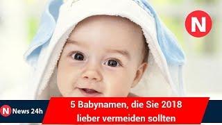 5 Babynamen, die Sie 2018 lieber vermeiden sollten - News 24h