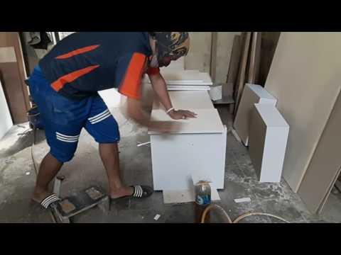 Cara membuat Kitchen Set sendiri | Teknik perekatan HPL