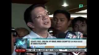 [News@6] Sen. Chiz Escudero: VP Binay, hindi exempted sa mga kaso at imbestigasyon