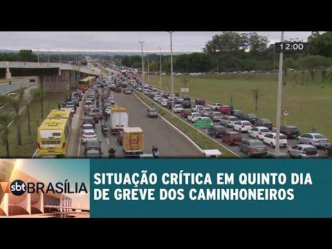 Situação crítica no DF em 5º dia de greve dos caminhoneiros | SBT Brasília 25/05/2018
