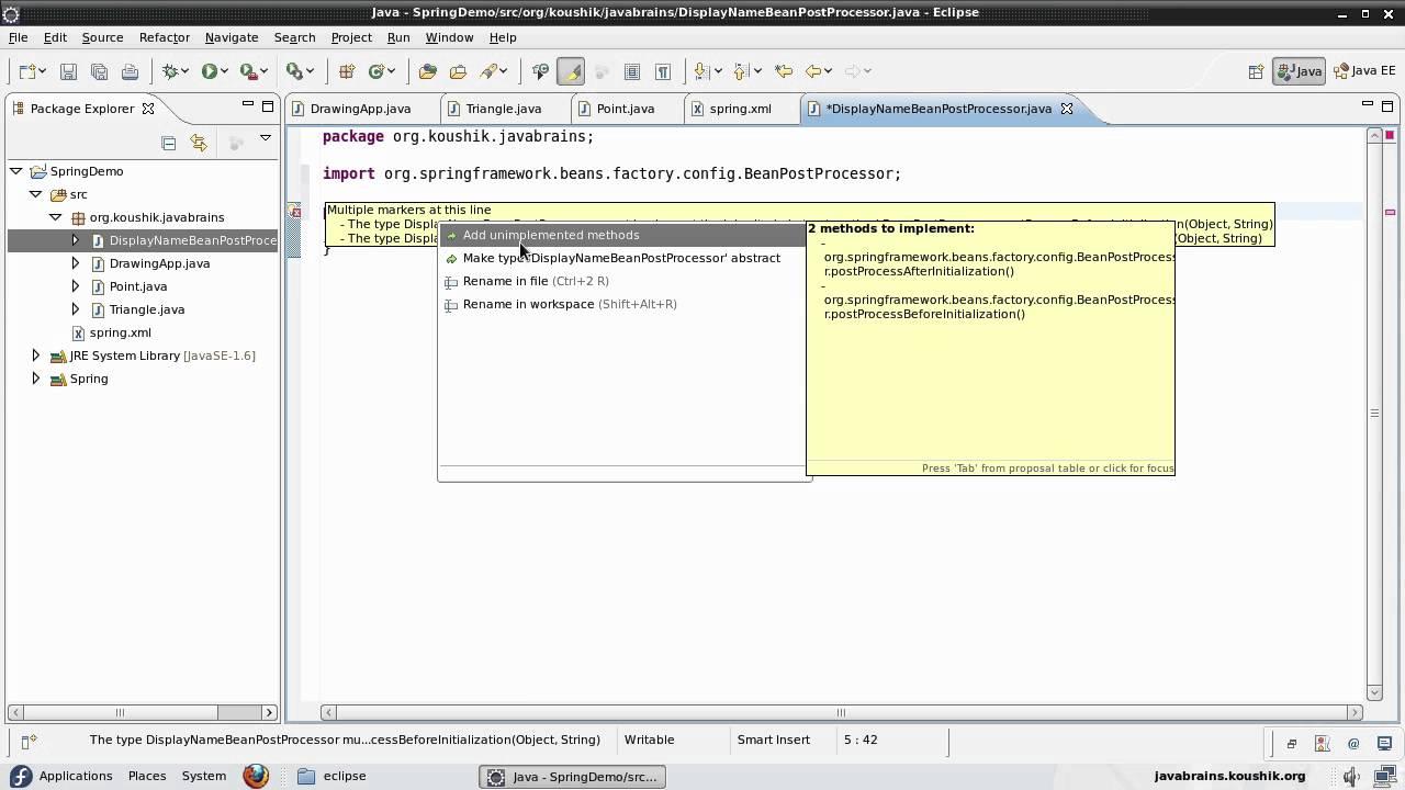 Spring tutorial 15 writing a beanpostprocessor youtube spring tutorial 15 writing a beanpostprocessor java brains baditri Gallery