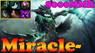 Dota 2 - Miracle- 8000MMR Plays Outworld Devourer - Pub Match Gameplay