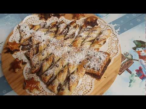 recette-facille-de-noël-un-sapin-en-pâte-feuilletée-🎄🎄🎅🍫وصفة-لذيذة-و-جميلة-بالعجين-المورق-🌲🎄👌