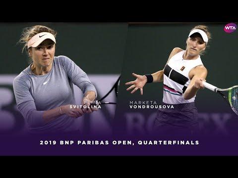 Elina Svitolina vs. Marketa Vondrousova | 2019 BNP Paribas Open Quarterfinals | WTA Highlights