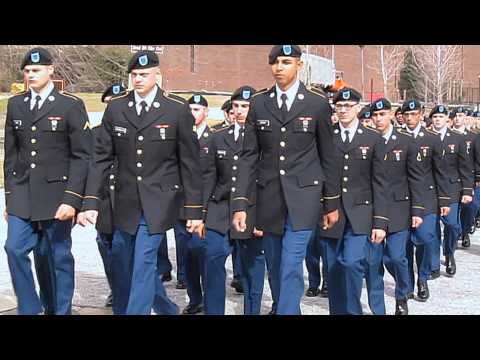 Fort Benning Delta Company 1 19 Turning Blue March