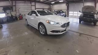 2018 Diamond White Ford Fusion Hybrid SE SF6325 Motor Inn Auto Group