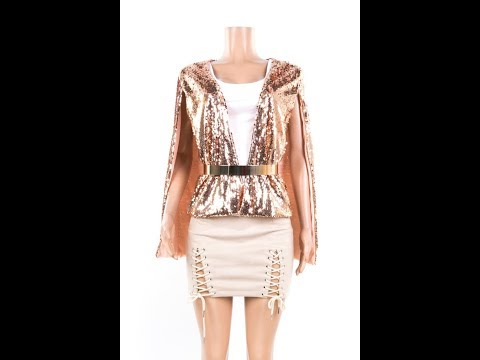 Gold Lining Sequin Jacket Wholesale
