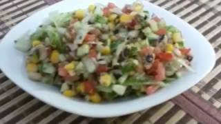 Mexican Salad Recipe in Urdu | home-made mexican salad recipe
